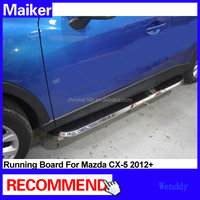 Aluminium alloy Side step bar running boards for Mazda CX-5 2012 4x4 accessories