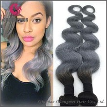 New product wholesale cheap virgin brazilian body wave grey human hair for braiding