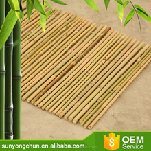 Bamboo fence joined with iron wires for bamboo & reed curtains