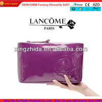 2014 new arrival patent PU leather cosmetic bag