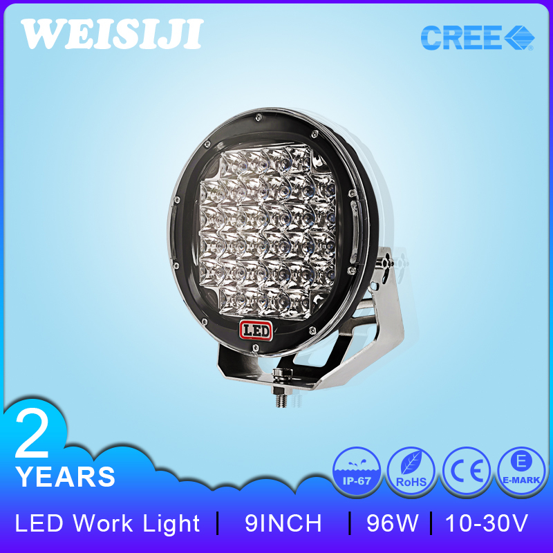 Hot selling Round 9inch high intensity led spot light 96w led driving lights