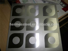304 etched decorative stainless steel plate for wall pannel