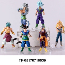 6pcs Dragon Ball Z Characters Toy Model Figures Set