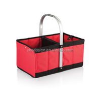 600D polyester folding empty picnic basket set