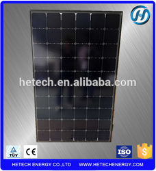 Back Contact 21% High efficiency Sunpower cell Mono 200W all black solar thermal panel