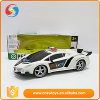 Alibaba China wholesale plastic white plastic police toy sport car
