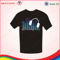 advertising cotton t shirts flash man t-shirt el t shirt in ShenZhen