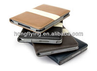 Notebook style Leather PU case cover for ipad mini,fashion style for ipad mini case