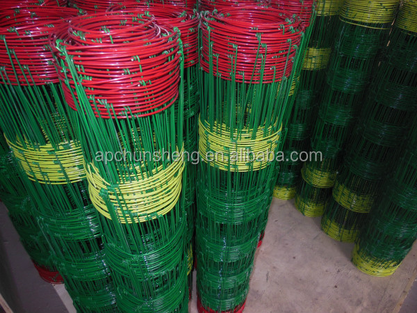 Fixed and Hinged Joint Nylon Coated Grassland Fence