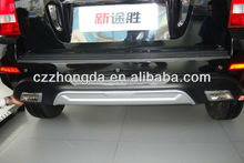 hyundai tucson bumpers with lamp,tucson front and rear buymper guard with LED light.