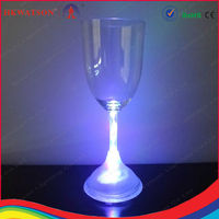 led light up wine glass cup led glass lens