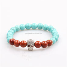 High Quality Jewelry Wholesale christmas gift European Trending Turquoise beads Bracelets men