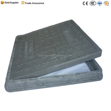 High Quality Competitive EN124 Square Black FRP Plastic Manhole Cover Used road facilities