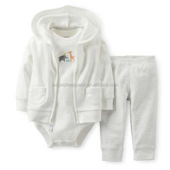 Wholesale Newborn Pima Cotton Baby Clothing Uni Cute