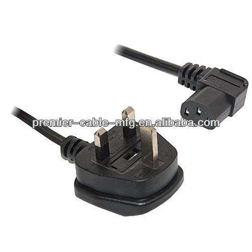 5M Right Angle Angled IEC Power Mains Lead Cable Kettle Connector 90 Degree TV