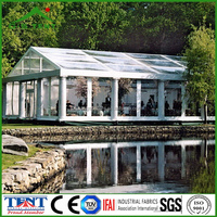 15x30 tents aluminium frame glass house for sale