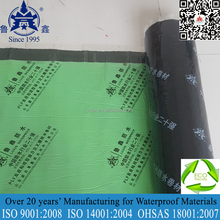 Self adhesive polymer modified bituminous aluminum waterproof membrane