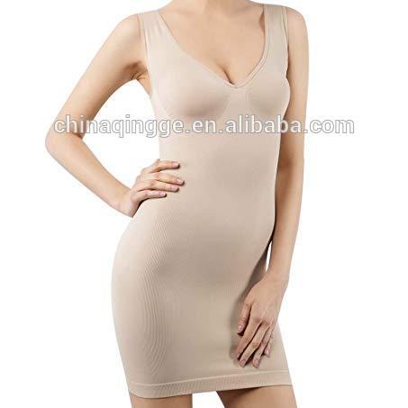 Full Slips for Women Under Dresses Shaping Control Slip Body Shaper Seamless V Neck Sleepwear