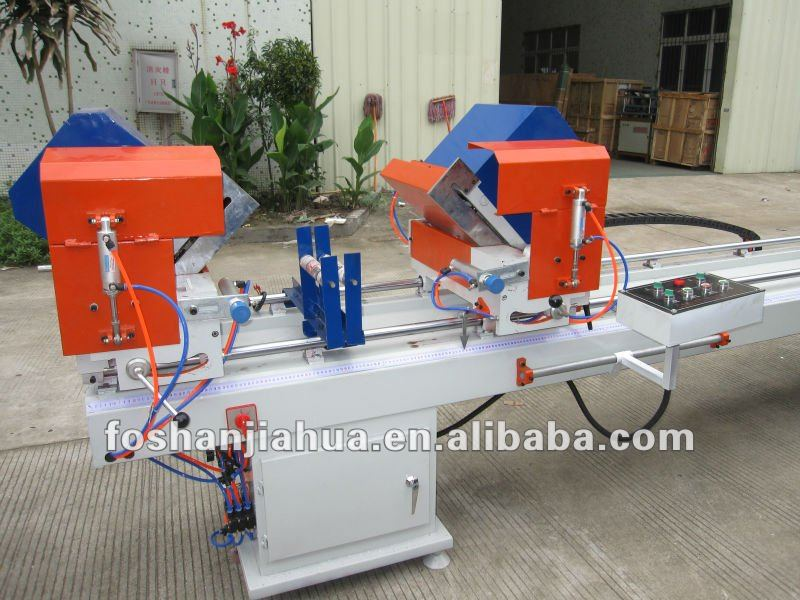 Windows Machine/ Pvc Profile Cutting Saw (double head) /Aluminum doors and Windows processing equipment