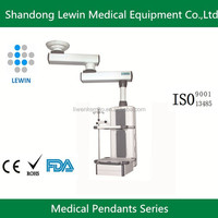 Medical tower with pneumatic braking system