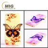 Fashion Colorful 3D Bluray Butterfly soft tpu cell phone case back cover for samsung note 5 4 3, for galaxy s6 s5 s4 s3 A7 A8 A9