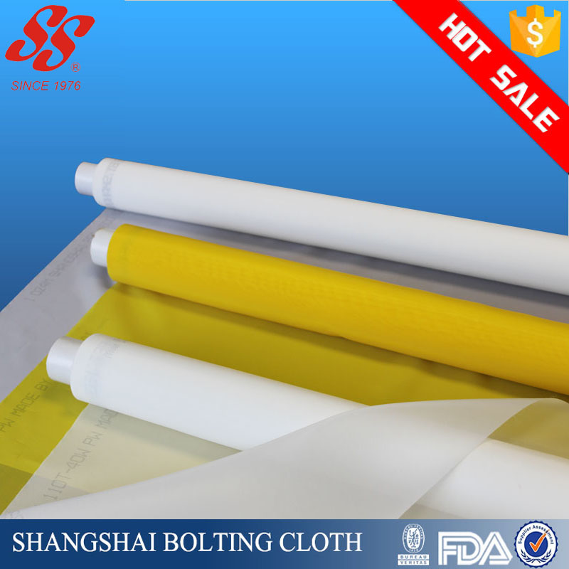 white 10/25-250um polyester silk screen mesh for screen printing