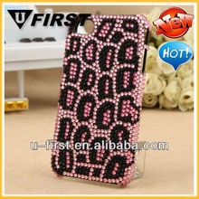 Leopard Bling Bling Rhinestone Diamond Case for iPhone 4 4S