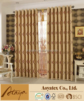 2015 NEW DESIGN creative printed sheer curtain with china Manufacturer
