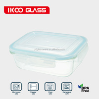 rectangle 690ml heat resistant borosilicate glass food container