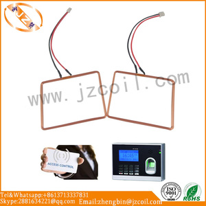 Adhesive copper air coil self bond wire RFID antenna coil for access control