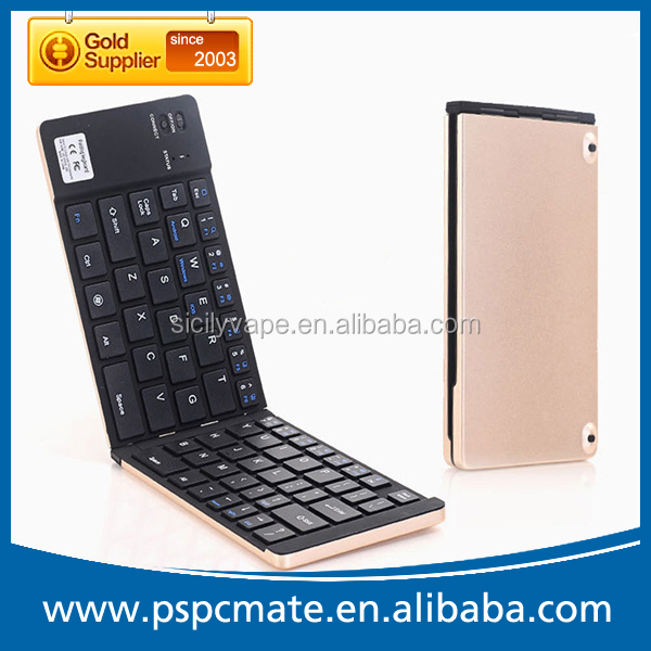 Various Color Aluminum Case Slim Tablet Mobile Phone Foldable Bluetooth Keyboard