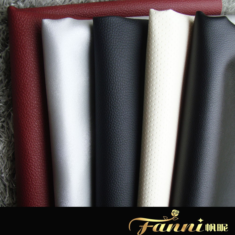 2015 new design car seat leather/artifial leather for car seat cover/rexine car seat leather fabric