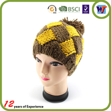 2015 Winter Warm Wholesale custom knitted Flower cap cute sale crocheted hat