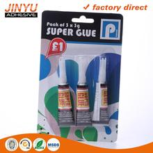 Wlecome OEM ODM Strong adhesive super glue with brush