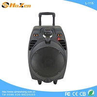 cheap plastic portable rechargeable trolley speakers with With USB/SD/FM/Bluetooth/wireless MIC
