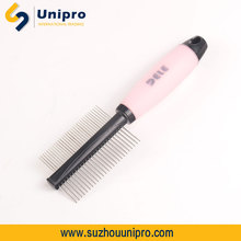 stainless steel dog grooming pet grooming equipment soft silicon pet grooming comb