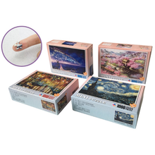 YMK IN STOCK Wholesale mini 1000 pieces cardboard paper jigsaw puzzle games in stock