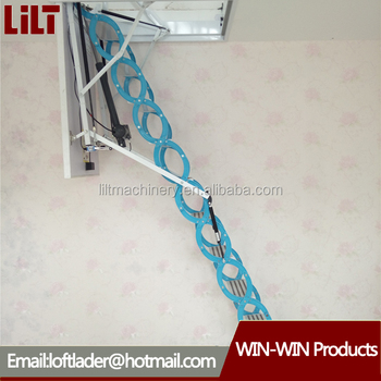 High Quality Electric Remote Control Loft Ladder/automatic Loft Ladder With  Handrail/attic Stairs