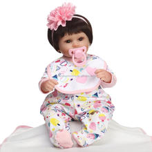 "American Girl Doll Baby Alive Our Generation Silicone Reborn Mini Baby Doll Girls Toys Real bebe Reborn for Sale 16"" inch"