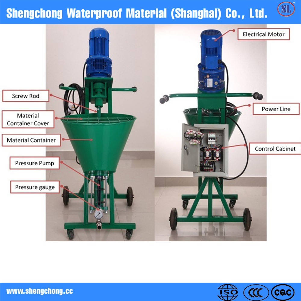 Cement mortar spray render machine