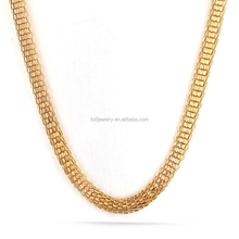 Luxury Stainless Steel 18K Gold Snake Chain Necklace with Magnet Clasp Jewelry