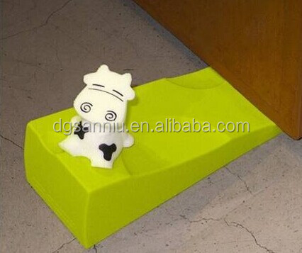 soft PVC Plastic silicone customized door stopper door Wedge with cow