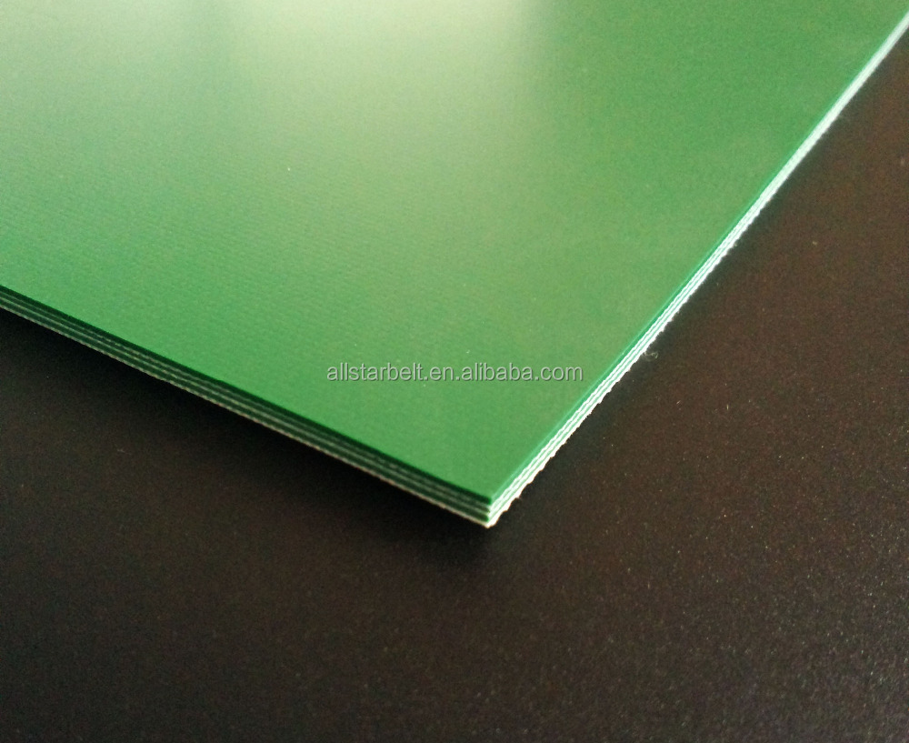 High quality 4.0mm Green Smooth PVC conveyor belt