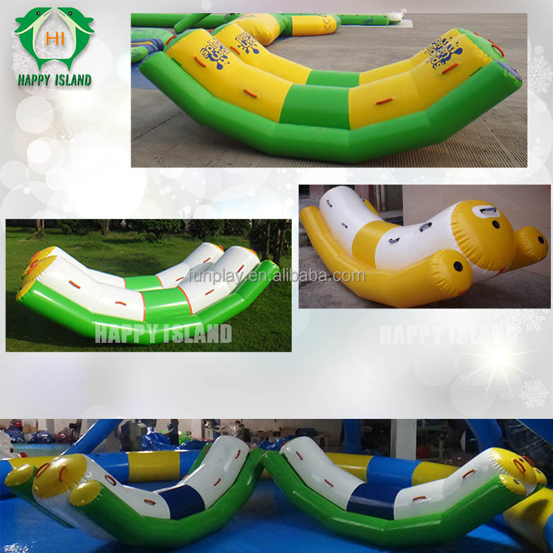 Funny inflatable teeter totter, inflatable teeter totter on water,inflatable pool float teeter totter for kids play
