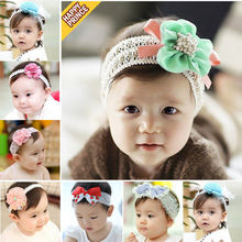 Lovely Baby Girl Headwear Infant Elastic Hair Band Lace Flower Headband