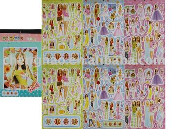 paper doll children dress up stickers book