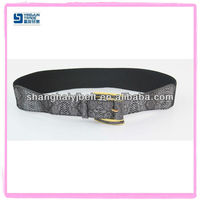 FASHION WOMAN SNAKE BELT ELASTIC BELT WAIST BELT GOLD BUCKLE