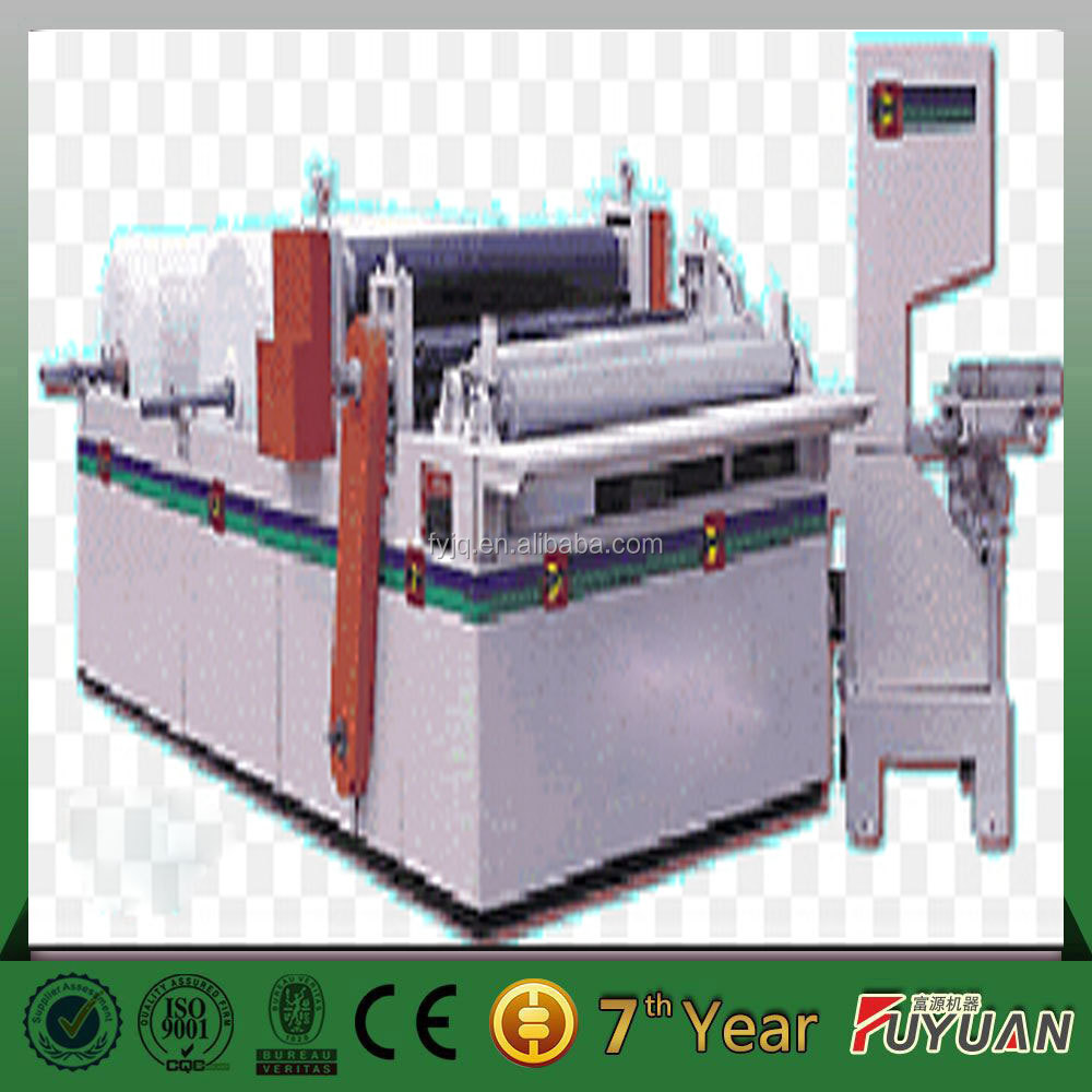 Rewinding machine and cuting machine for toilet paper product