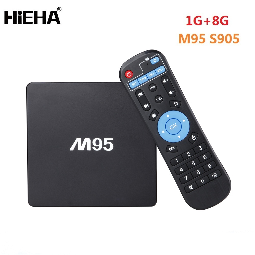 Hot Hieha M95 Amlogic S905x Android 6.0 4K Ott Q TV Box with Remote Control