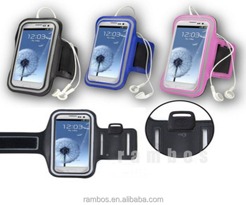 Neoprene Running Sports Gym Band Workout Armband Cover Case for Samsung Galaxy S3 i9300 with Key Holder Pouch